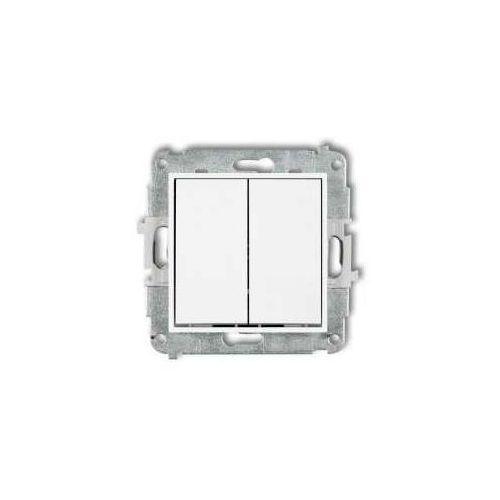 Przycisk zwierny podwójny mini mwp-44.1 podtynkowy biały marki Karlik