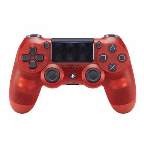 kontroler ps4 dualshock 4 v2, przezroczysty czerwony marki Sony
