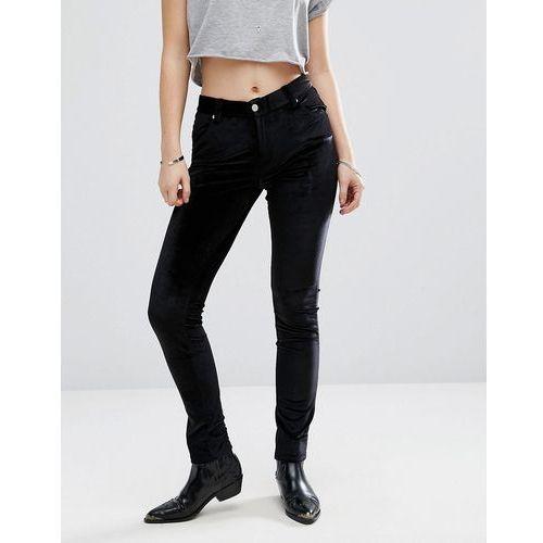 Brave Soul Velvet Skinny Jeans - Black