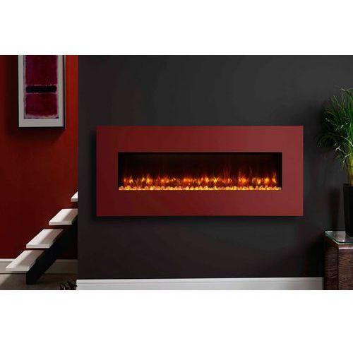 Kominek radiance 80w steel z ramką w kolorze czerwonym marki Stovax - dobra oferta