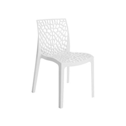 Krzesło ogrodowe gruvyer plastikowe białe marki Telehit garden