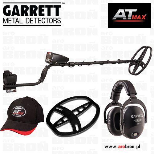 Wykrywacz metali at max + słuchawki bezprzewodowe ms-3 z-link, osłona cewki, czapeczka nowość 2017 marki Garrett