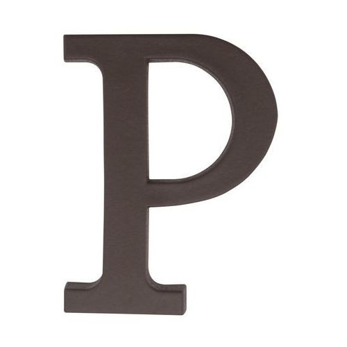Litera P wys. 9 cm PVC brązowa (5901912823389)
