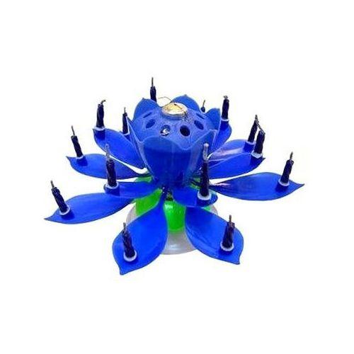 Świeczka grająca - tańcząca - niebieska (5907509920653)