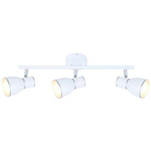 Listwa lampa sufitowa plafon spot fido 3x40w e14 biała / chrom 93-63403 marki Candellux