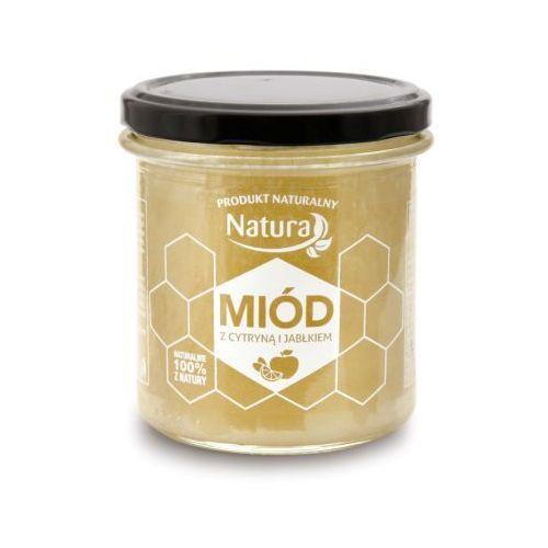 PoBioEco Miód z Cytryną i Jabłkiem 450ml