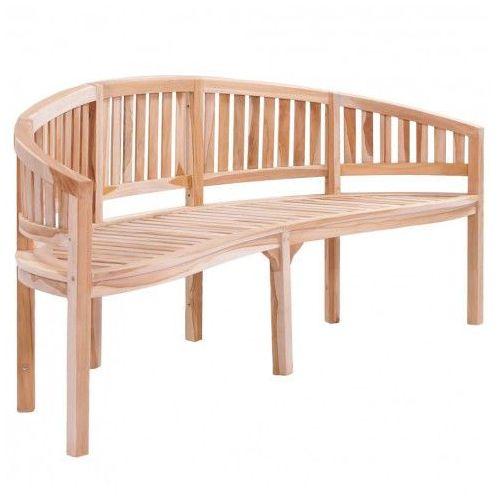 Drewniana ławka ogrodowa Ollen - brązowa
