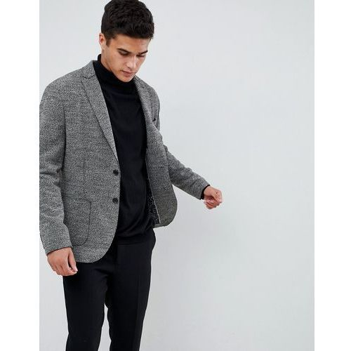 Selected Homme Patch Pocket Blazer With Raw Edge Details In Slim Fit - Grey