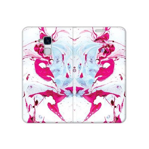 Etuo flex book fantastic Huawei honor 5c - etui na telefon flex book fantastic - różowy marmur