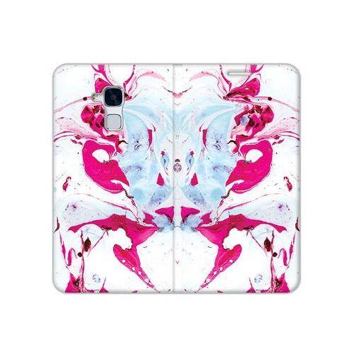 Huawei Honor 5C - etui na telefon Flex Book Fantastic - różowy marmur, ETHW344FBFCFB030000