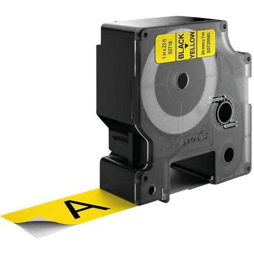 Dymo Taśma do nadruku  s0720980, 24 mm x 7 m, kolor taśmy: żółty / kolor nadruku: czarny