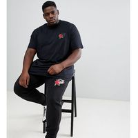 Duke King Size embroidered logo joggers with side panels in black - Black