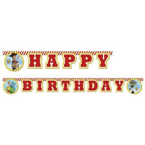 Baner urodzinowy happy birthday toy story 4 - 200 cm - 1 szt. marki Procos disney