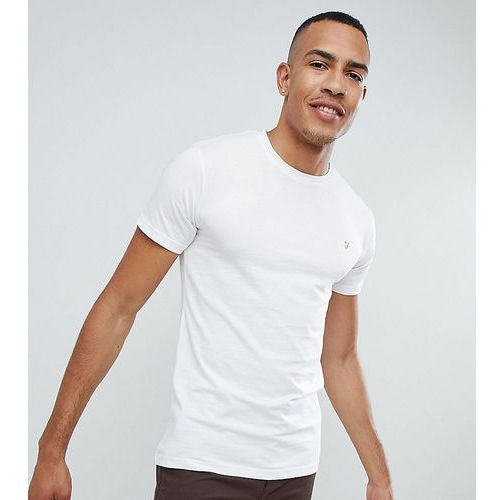 Farah Farris Slim Fit T-Shirt With Stretch In White - White, kolor biały