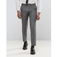 Harry brown slim fit donegal wool blend suit trousers - grey