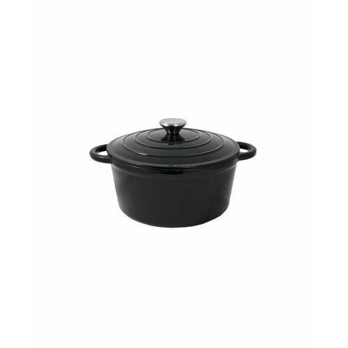 Garnek żeliwny ARKI z pokrywką 2,5 l czarny, TOAR01.25