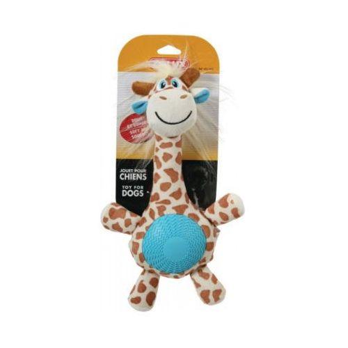 Żyrafa z dźwiękiem - pluszowo - gumowa zabawka dla psa ZOLUX - 32 cm (3336024809556)