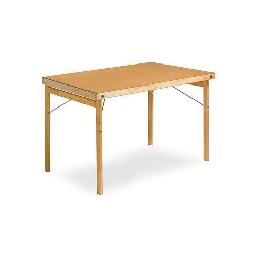 Stół składany Amber, 1200x700 mm, płyta utwardzana, drewno, 14766