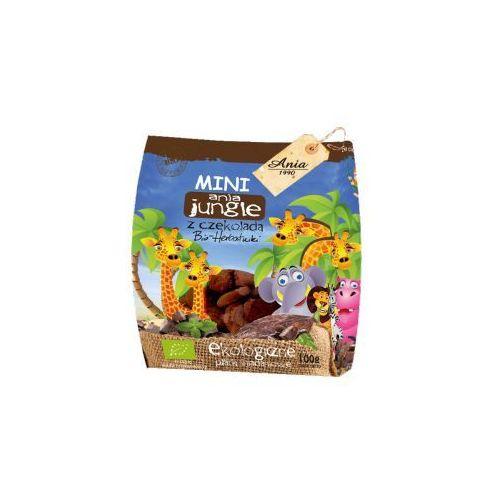 Herbatniki mini jungle z czekoladą bio 100 g ania marki Holle