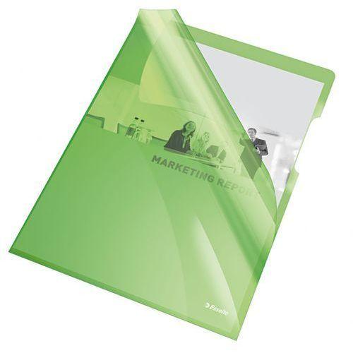 Esselte Ofertówka krystaliczna l  55436 a4/25szt.,150mic. zielona