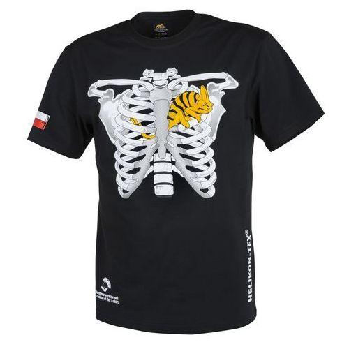 t-shirt Helikon kameleon w klatce piersiowej z flagą PL czarny (TS-CTF-CO-01)