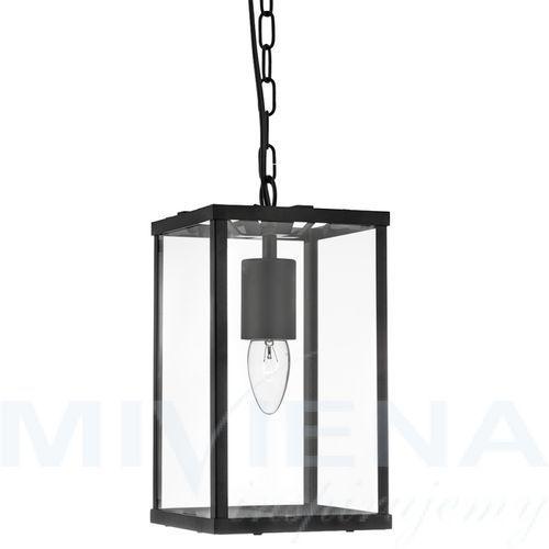 Voyager lampa wisząca 1 czarny szkło/metal