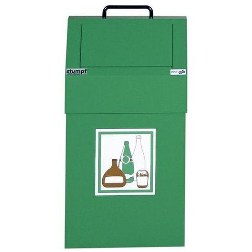Stumpf-metall Pojemnik na surowce wtórne, poj. 45 l, stacjonarny, blacha stalowa, kolor zielon