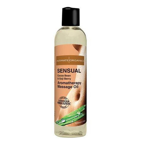 Olejek do masażu organiczny -  sensual massage oil 120 ml marki Intimate organics