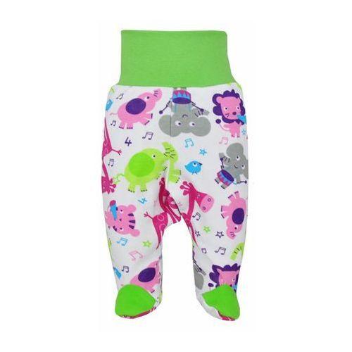 Dziecięcy bawełniane półśpiochy Bobas Fashion Zoo zielone dla dziewczynek