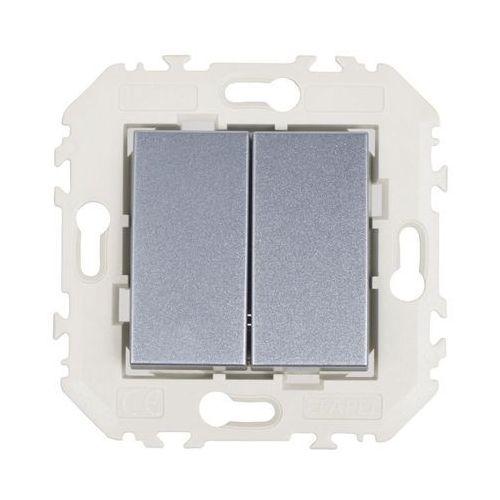 Włącznik podwójny quadro aluminium marki Efapel
