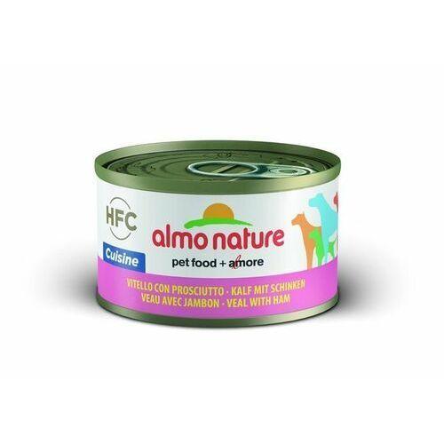 Almo nature hfc cuisine cielęcina z szynką dla psa 6x95g