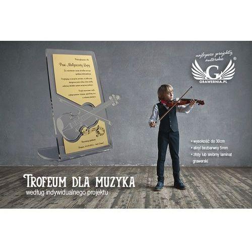 Grawernia.pl - grawerowanie i wycinanie laserem Trofeum dla muzyka- wg indywidualnego projektu - model dta11