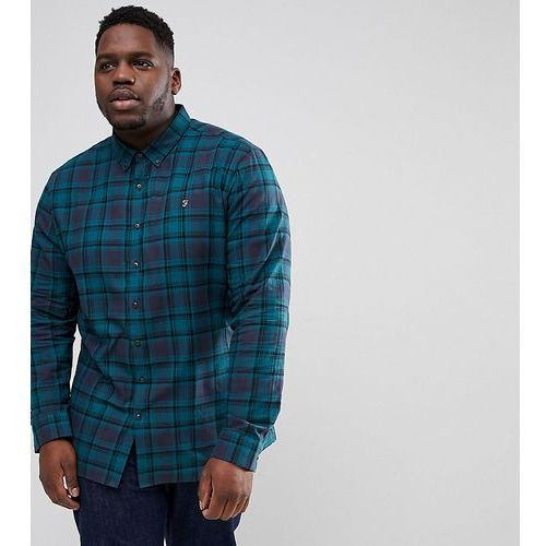 waithe slim fit check shirt in navy exclusive at asos - navy, Farah