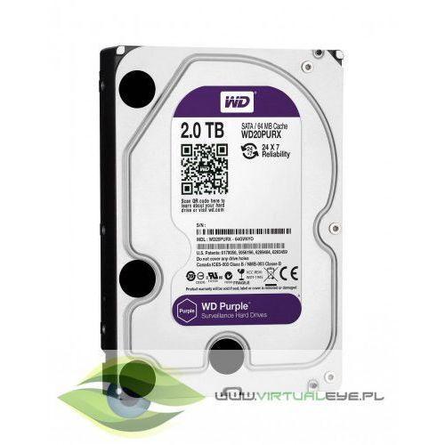 "Dysk HDD Western Digital PURPLE 3,5"" 2TB SATA III 64MB 5400obr/min"