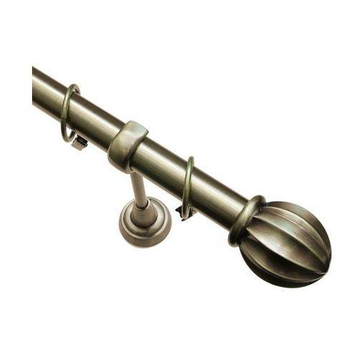 Karnisz pojedynczy Milos mosiądz 240 cm, 2021591