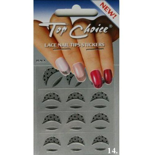 Naklejki na paznokcie french czarny
