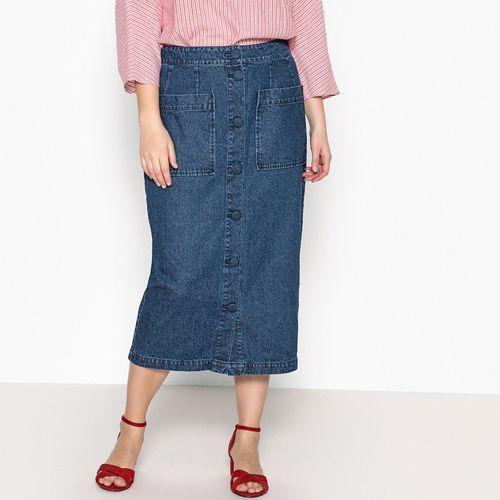 Długa dżinsowa rozszerzana spódnica, Castaluna