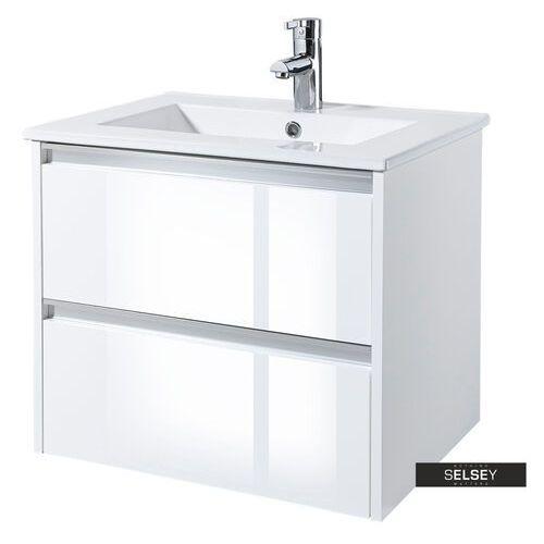 SELSEY Szafka pod umywalkę Antari 60 cm biała, kolor biały