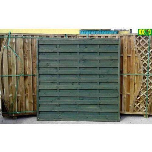 Płot drewniany pełny 180 x 180 - wyprzedaż - zielony marki Tivolo sp.j