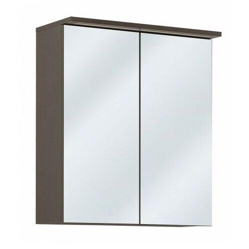 Producent: elior Wisząca szafka łazienkowa z lustrem - marbella 7x grafit 60 cm