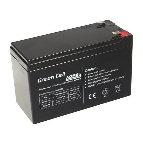 Akumulator AGM 12V 9Ah {151 × 65 × 98 mm} (GreenCell)