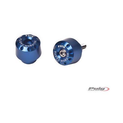 Końcówki kierownicy do Yamaha FZ8 / FZ1 / R6 / R1 (krótkie, niebieskie)