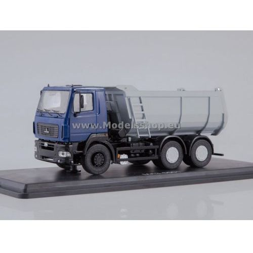 Maz-6501 u-shape dumper truck (dark blue/grey) marki Ssm