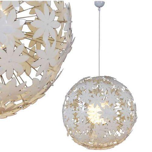 Lampa wisząca flower bowl 7024423 okrągła oprawa nowoczesna zwis kula ball biała marki Nave