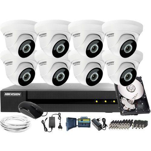 Hikvision hiwatch 8 x hwt-t223-m zestaw do monitoringu hwd-6108mh-g2, 1tb, akcesoria