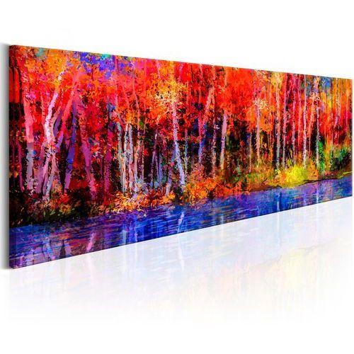 Obraz - kolorowe jesienne drzewa marki Artgeist