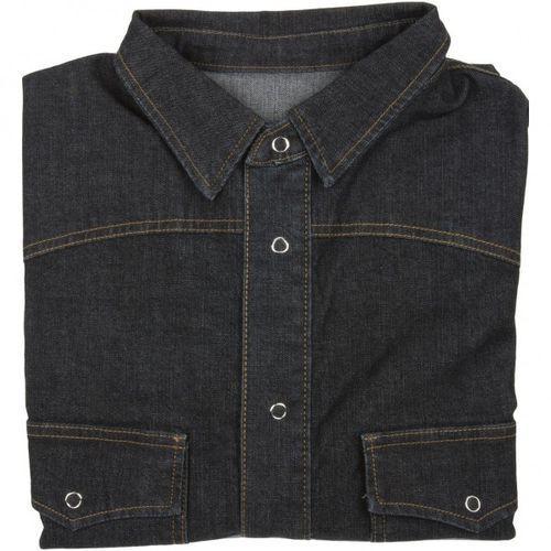 Czarna koszula jeansowa Dehler zapinana na napy, bawełna