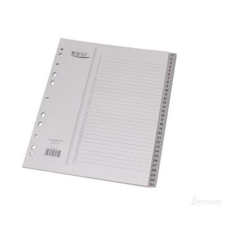 Przekładki z szarego polipropylenu , numeryczne 31 kart - rabaty - porady - hurt - negocjacja cen - autoryzowana dystrybucja - szybka dostawa marki Idest