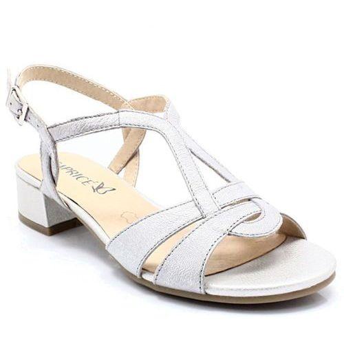 CAPRICE 9-28201-20 SREBRNE - Niskie sandały