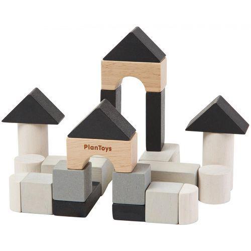 Plan toys Drewniane klocki styl nowoczesny 15 elementów (8854740053718)
